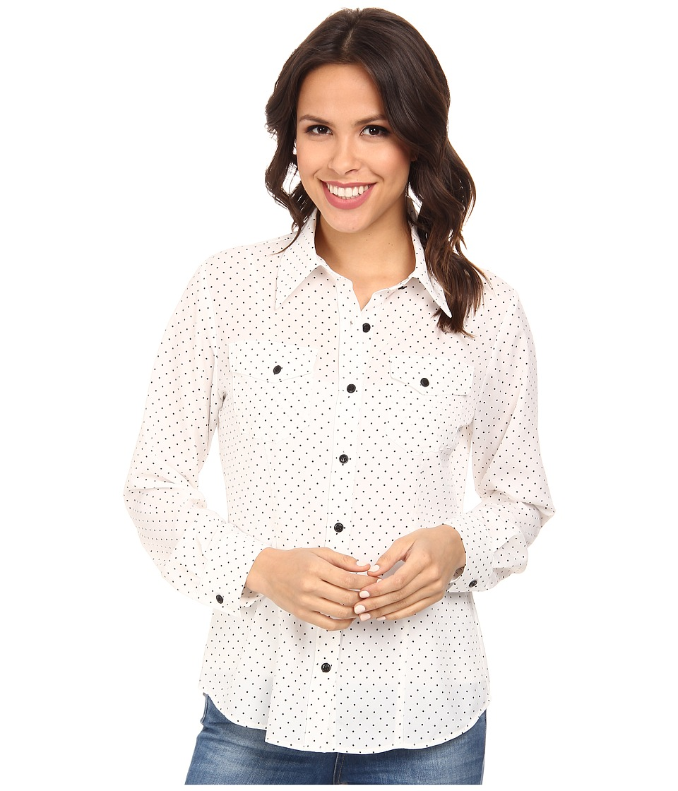 Pendleton - Tippi Print Blouse (Ivory/Black Dot) Women's Blouse