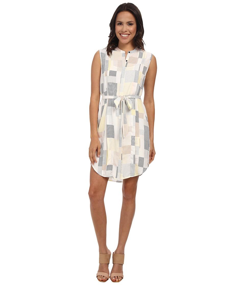 DKNYC - Pleated Sleeveless Shirt Dress (Mimosa) Women