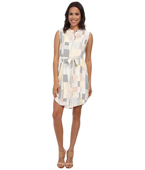 DKNYC - Pleated Sleeveless Shirt Dress (Mimosa) Women's Dress