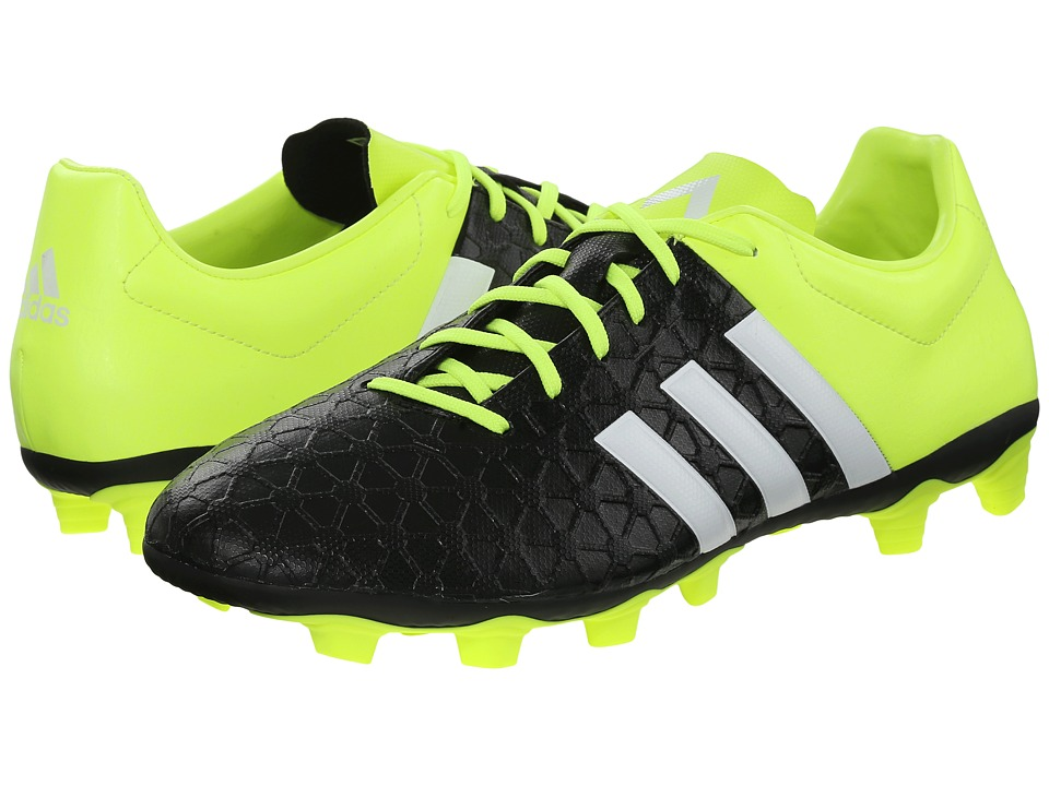 adidas - Ace Entry FxG (Black/White/Solar Yellow) Men's Cleated Shoes