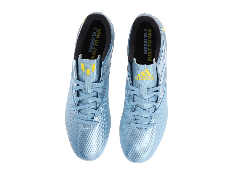 adidas - Messi 15.3 FG/AG (Matte Ice Metallic/Bright Yellow/Black) Men's Cleated Shoes