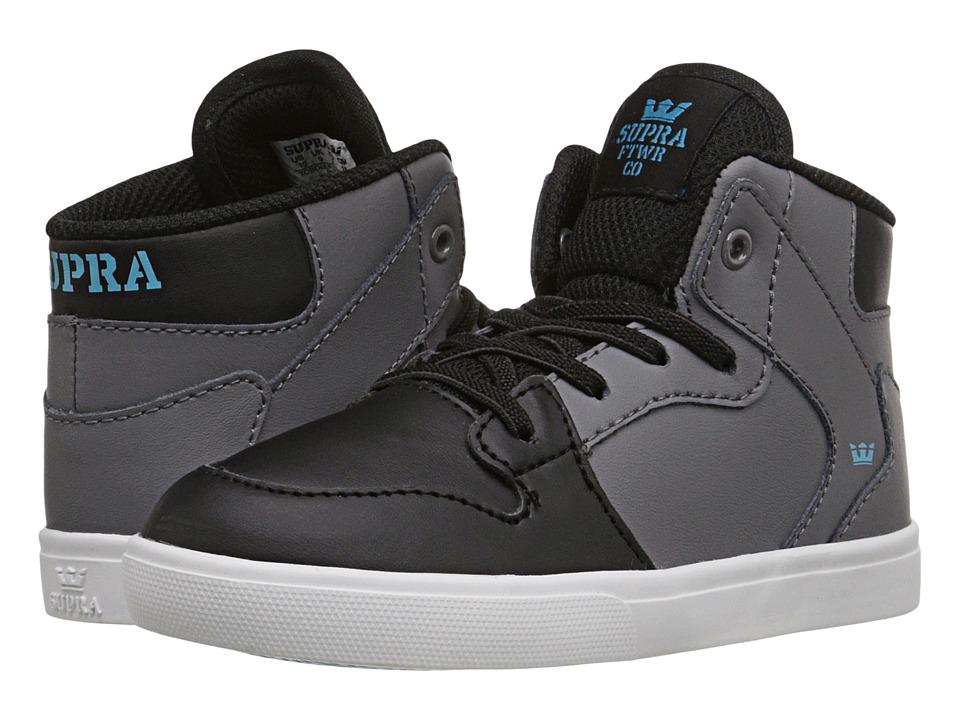 Supra Kids - Vaider (Toddler) (Charcoal/Black) Boy's Shoes