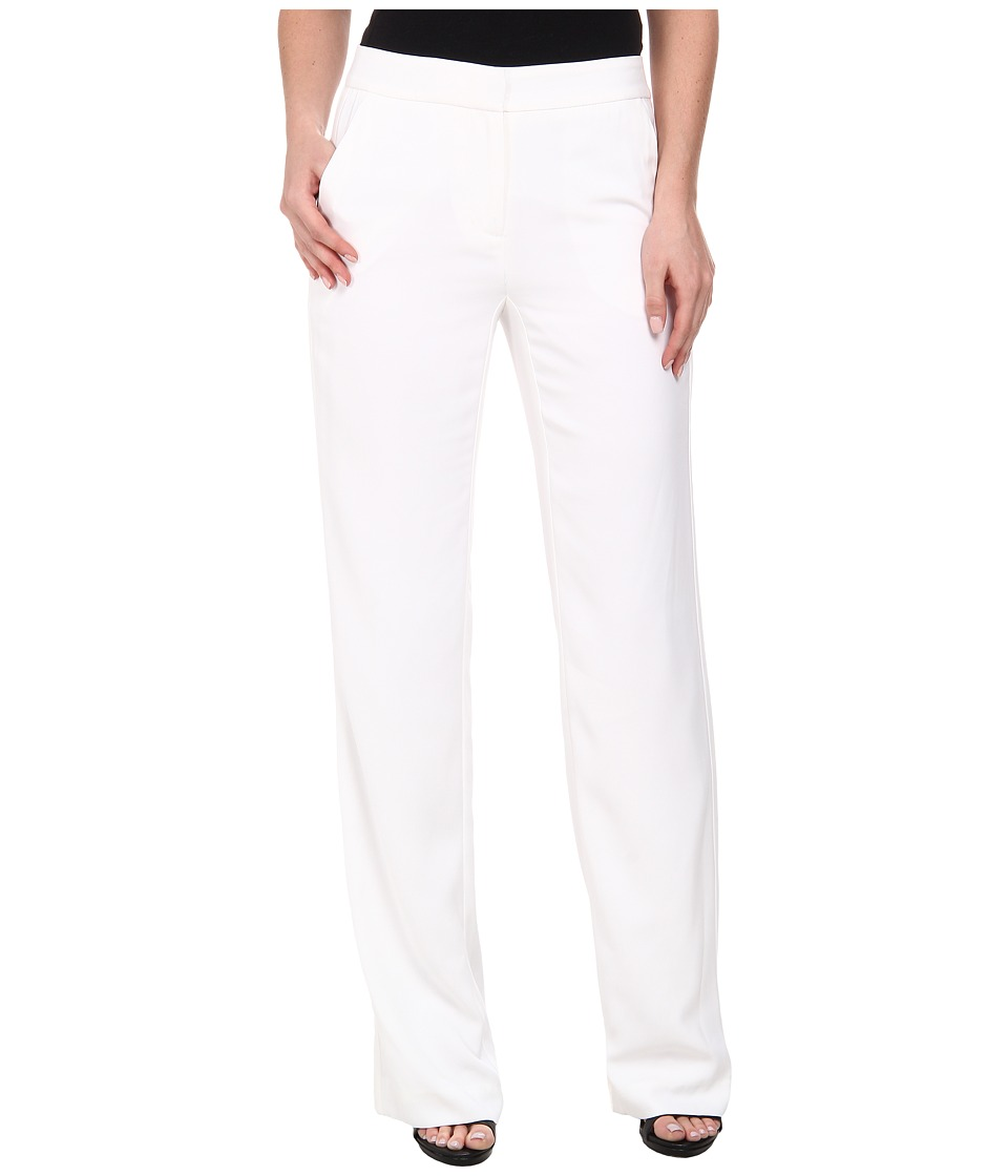 DKNYC - Tech Crepe Wide Leg Pants (White) Women's Casual Pants