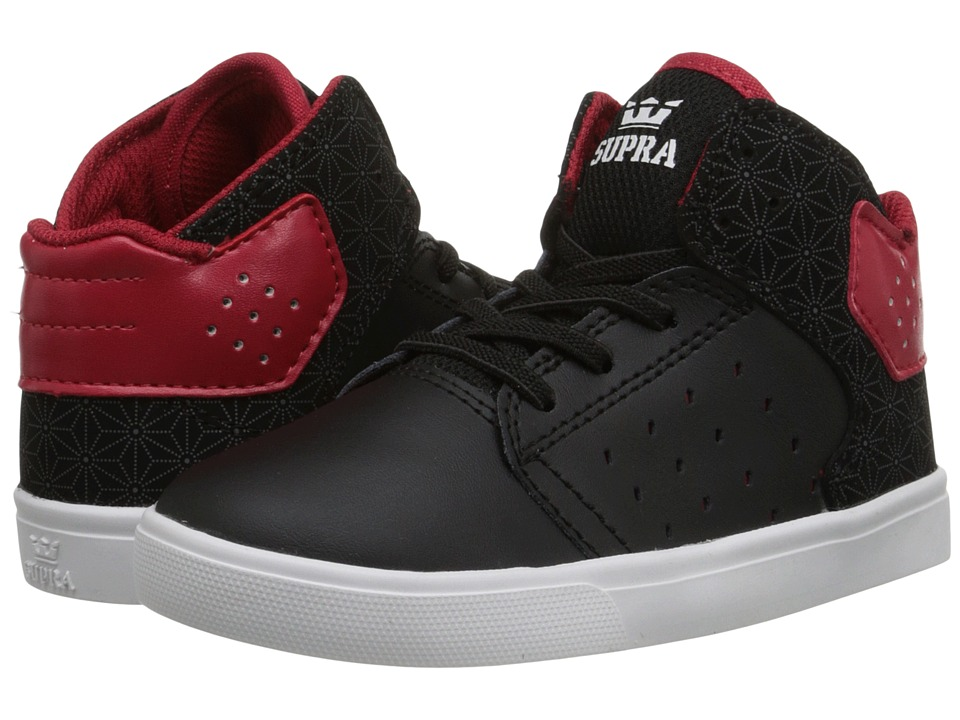 Supra Kids - Atom (Toddler) (Black/Red Leather) Boy's Shoes
