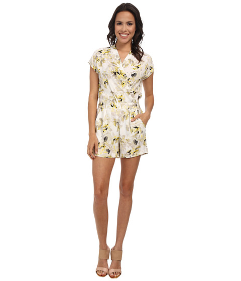 DKNYC - Side Draped Romper (Primrose) Women