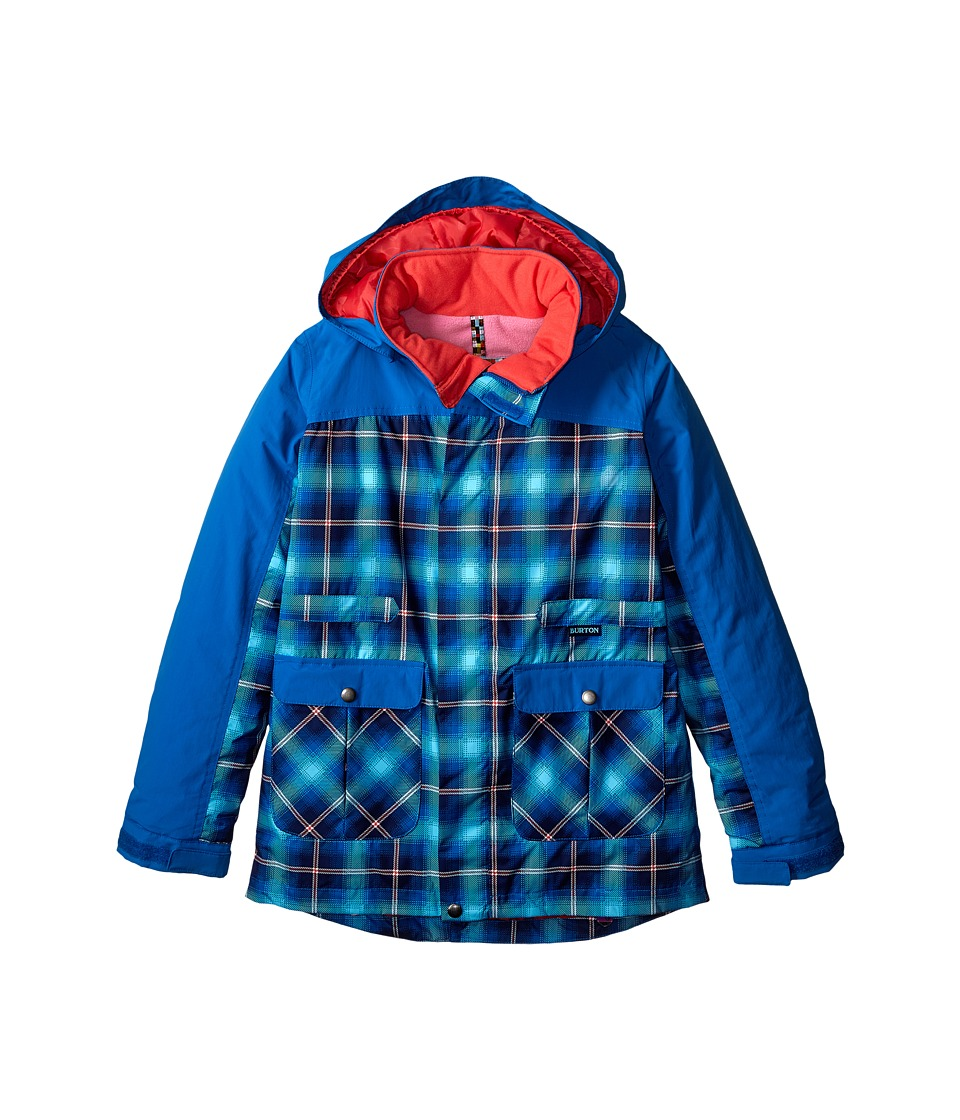 Burton Kids - Ava Trench Jacket (Little Kids/Big Kids) (Flynn Plaid/Heron Blue) Girl's Coat