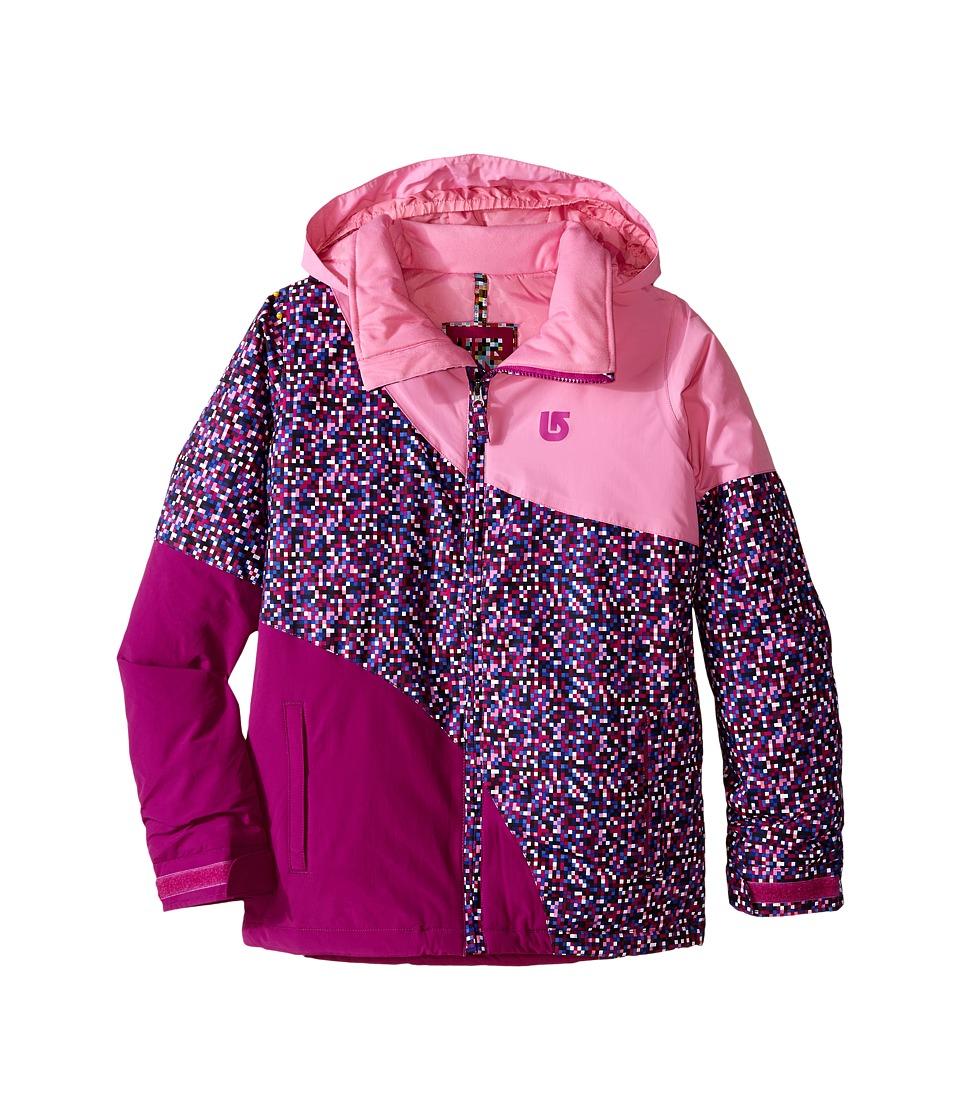 Burton Kids - Hart Jacket (Little Kids/Big Kids) (Pixi Dot Sangria Block) Girl