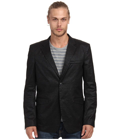 Marc Ecko Cut & Sew - Rugged Woven Blazer (Black) Men's Jacket