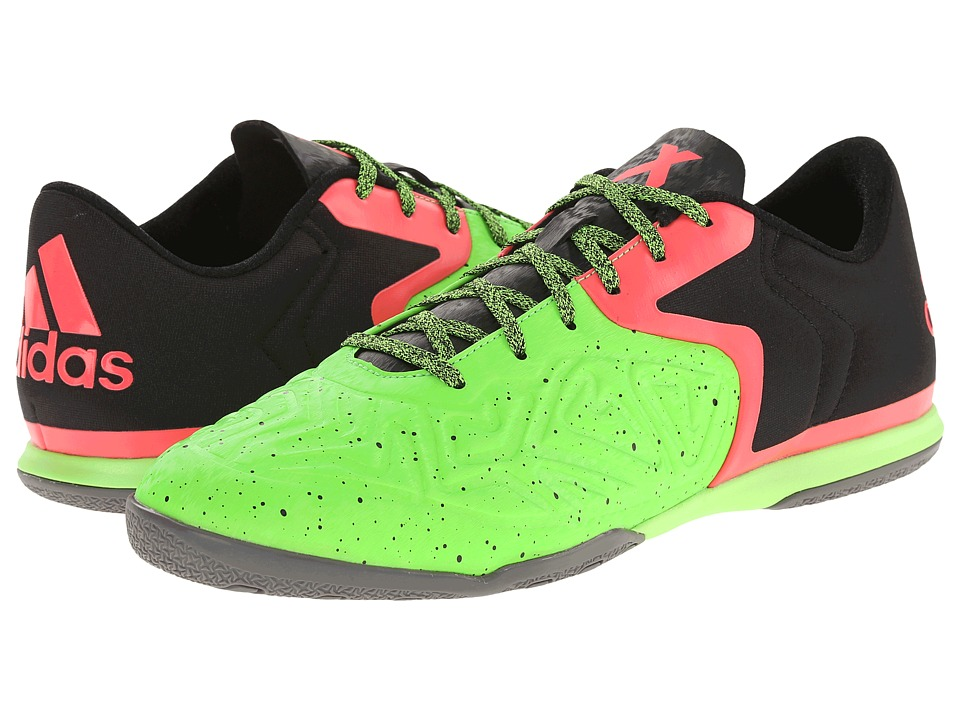 adidas - VS Chaos Low CT (Black/Flash Red/Solar Green) Men's Soccer Shoes