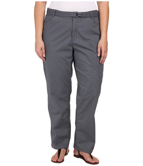 DKNY Jeans - Plus Size Belted Poplin Cargo Pants in Slate Grey (Slate Grey) Women
