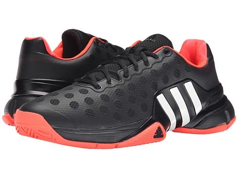 adidas - Barricade 2015 (Black/White/Solar Red) Men's Tennis Shoes
