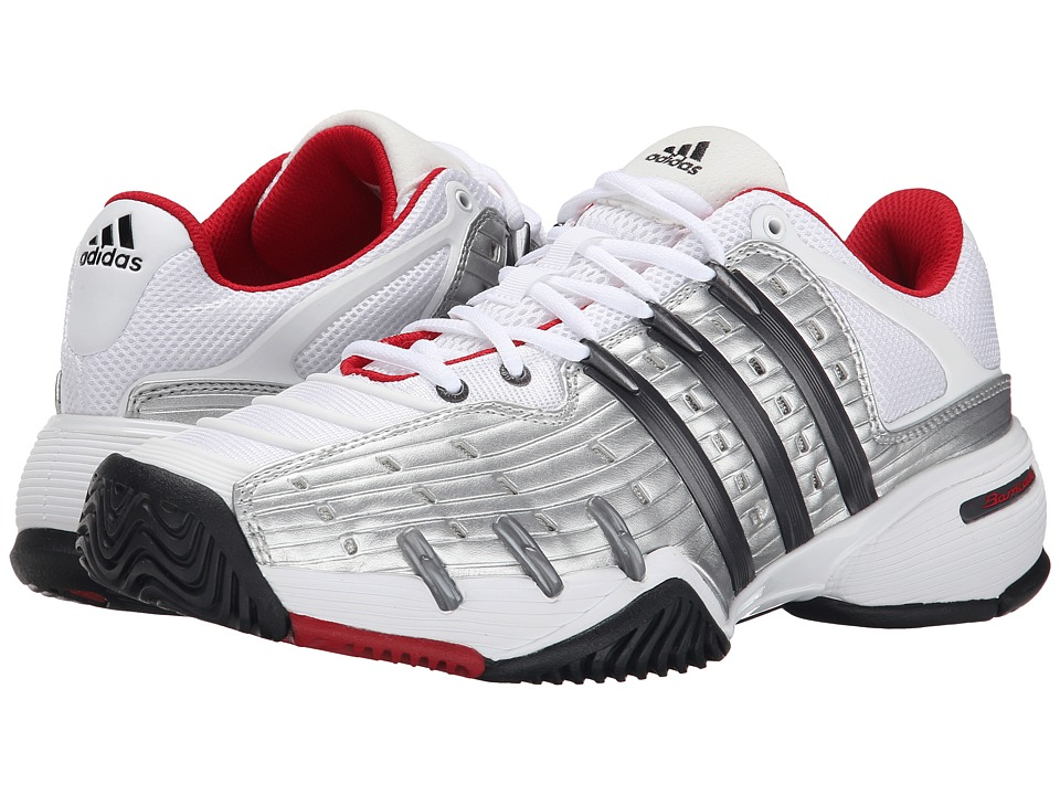 adidas - Barricade V Classic (White/Night Metallic/Bright Red) Men