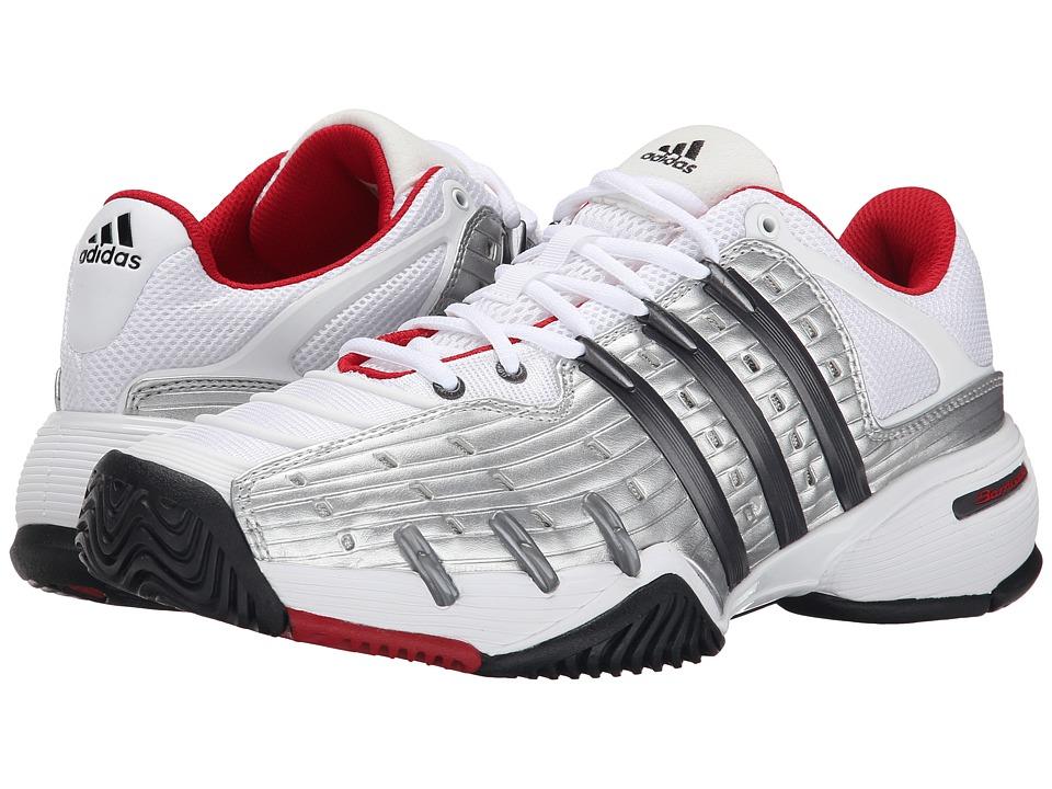 adidas Barricade V Classic (White/Night Metallic/Bright Red) Men