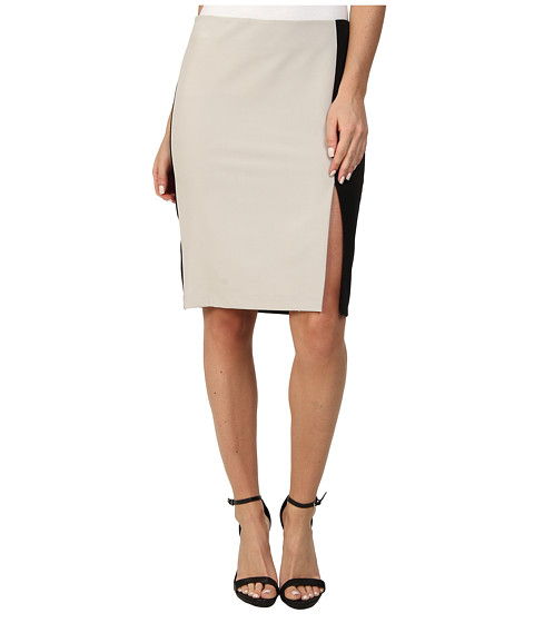 DKNYC - Pencil Skirt w/ Ponte Back (Overcast) Women's Skirt