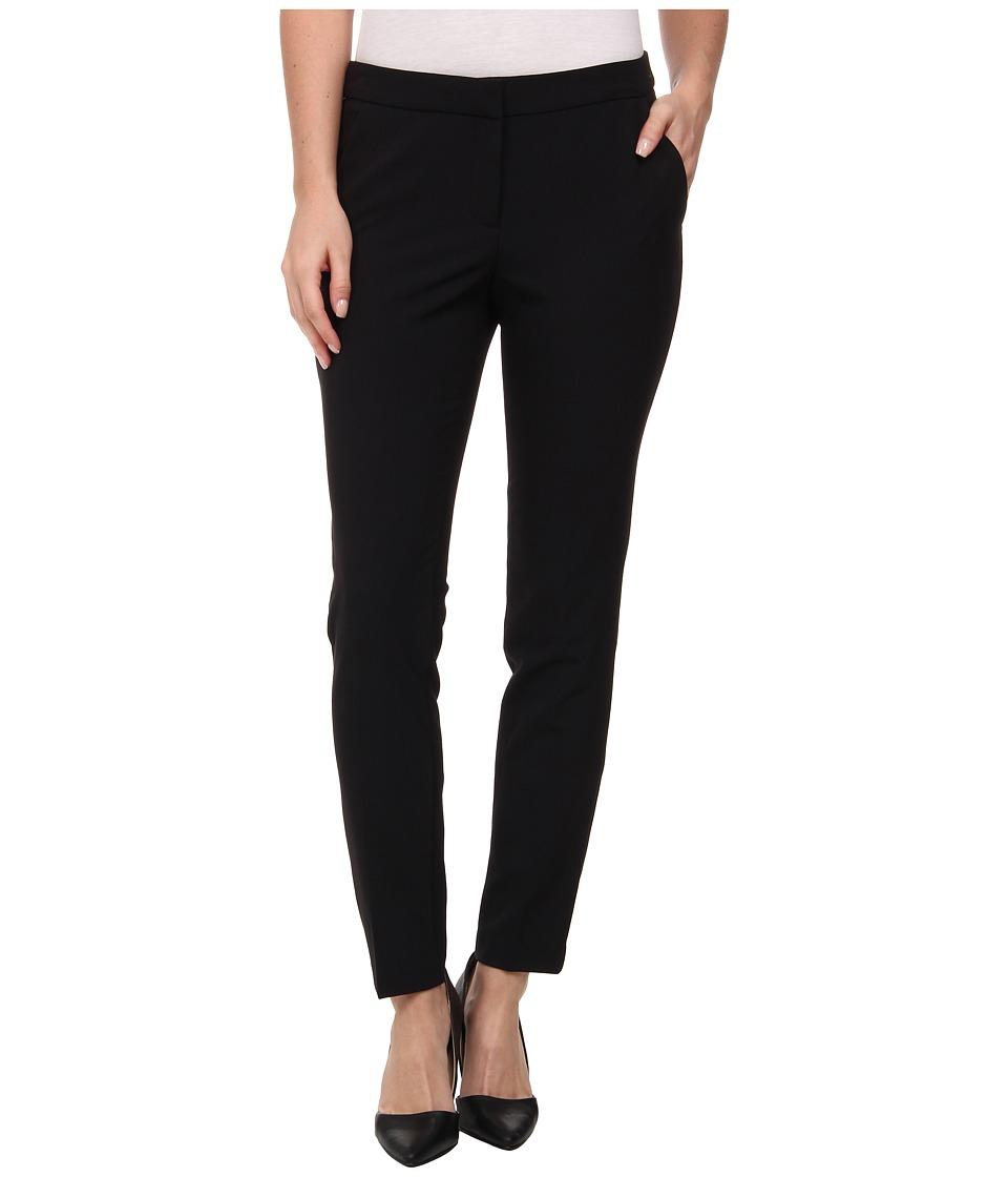 DKNYC - Straight Ankle Ponte Back Pants (Black) Women's Casual Pants