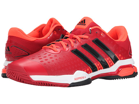 adidas - Barricade Team 4 (Power Red/Black/Solar Red) Men's Tennis Shoes
