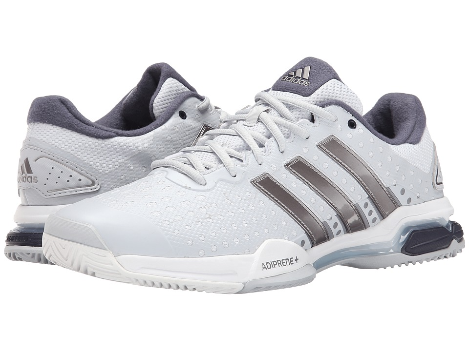 adidas - Barricade Team 4 (Clear Grey/Tech Silver Metallic/Midnight Grey) Men's Tennis Shoes