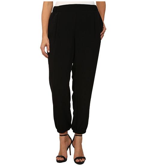 DKNY Jeans - Plus Size Solid Silky Track Pants (Noir) Women