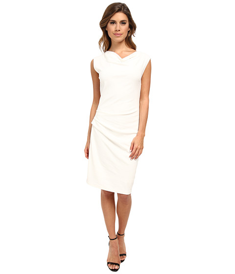 DKNYC - Asymmetric Draped Dress (Ivory) Women's Dress