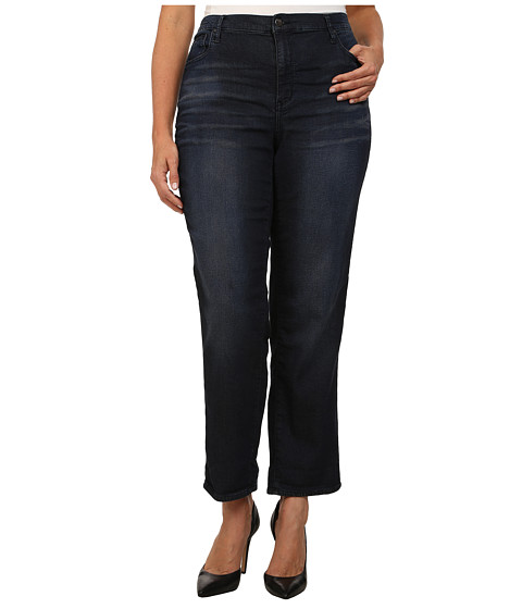 DKNY Jeans - Plus Size Knit Boyfriend Jeans in Flex Wash (Flex Wash) Women's Jeans