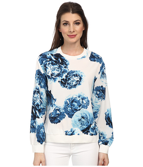 DKNYC - Sweatshirt w/ Rib Trim (Ivory) Women's Sweatshirt