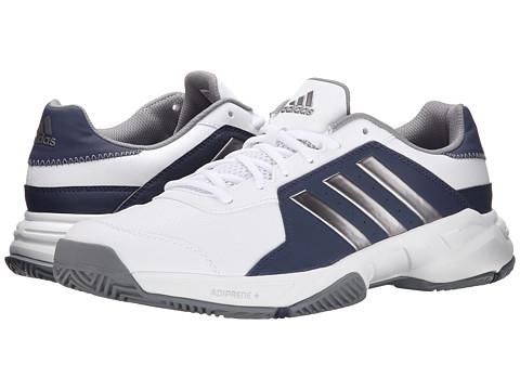 adidas - Barricade Court (White/Tech Silver Metallic/Midnight Grey) Men