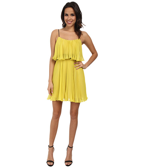 ABS Allen Schwartz - Pleated Cami Dress (Chartreuse) Women