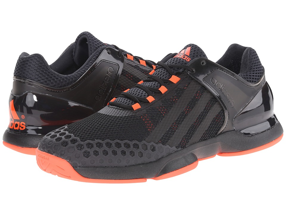 adidas - Adizero Ubersonic (Black/Solar Red) Men's Tennis Shoes