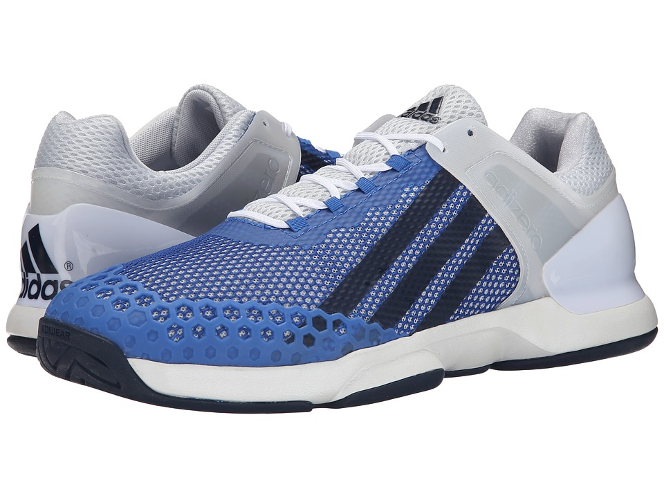 adidas - Adizero Ubersonic (White/Collegiate Navy/Blue) Men's Tennis Shoes