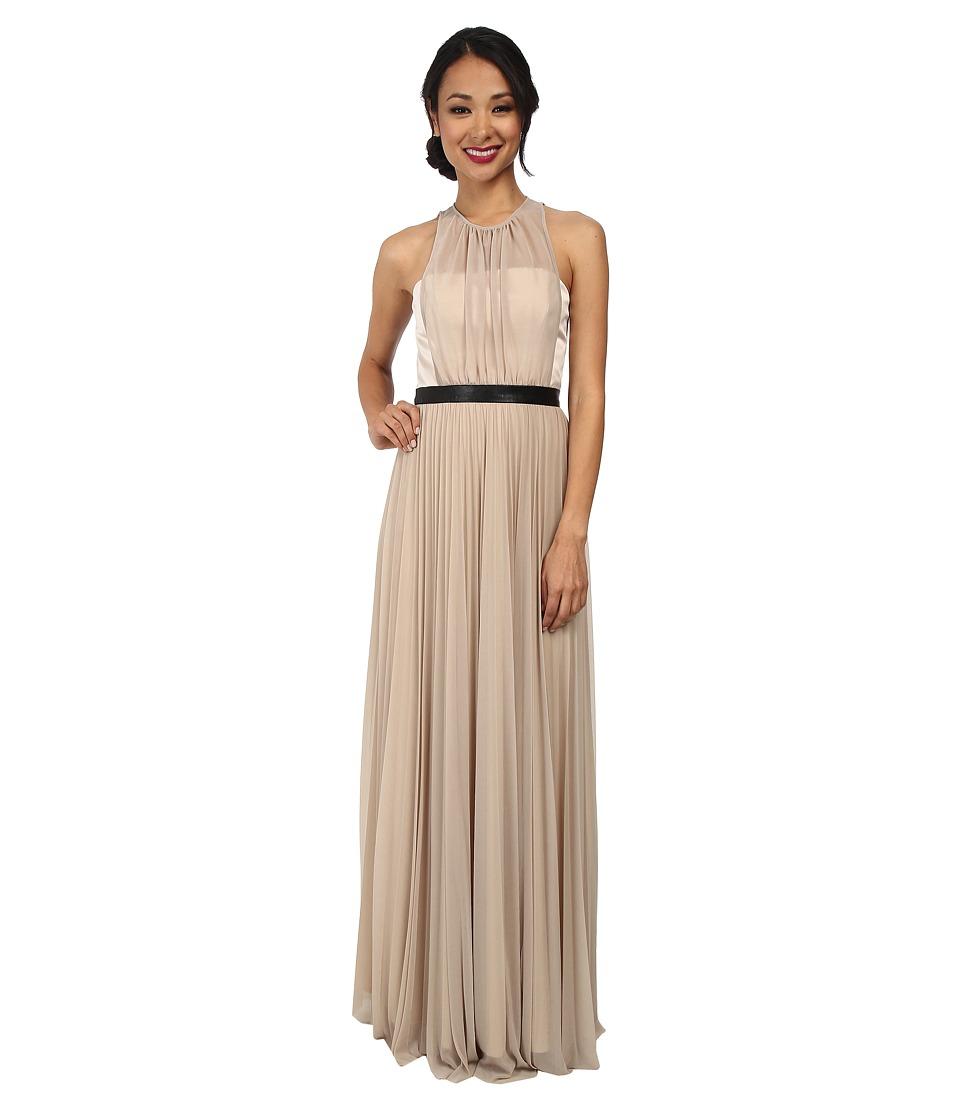 ABS Allen Schwartz - Gown w/ Pleated Skirt (Taupe) Women's Dress