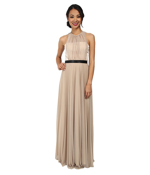 ABS Allen Schwartz - Gown w/ Pleated Skirt (Taupe) Women's Dress