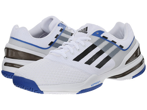 adidas - Sonic Rally (White/Black/Blue) Men's Tennis Shoes