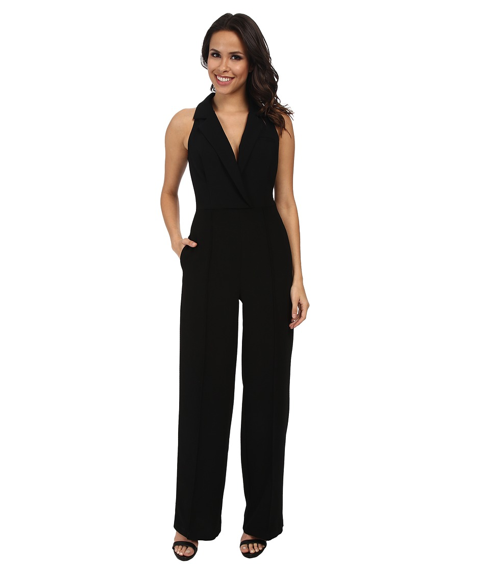 ABS Allen Schwartz - Straight Leg Evening Jumpsuit (Black) Women's Jumpsuit & Rompers One Piece