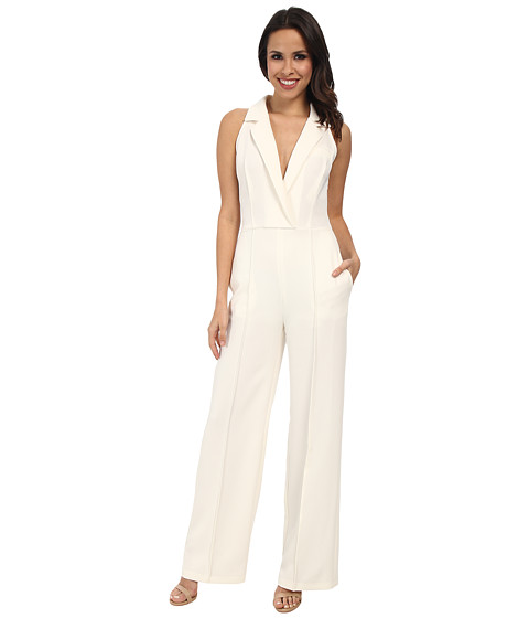ABS Allen Schwartz - Straight Leg Evening Jumpsuit (Cream) Women's Jumpsuit & Rompers One Piece