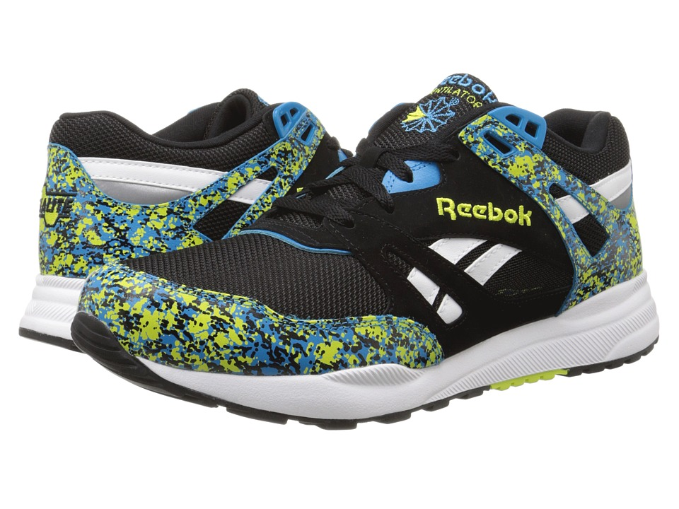 Reebok Lifestyle - Ventilator CG (Black/Hypergreen/Endurance Blue/White) Men's Shoes