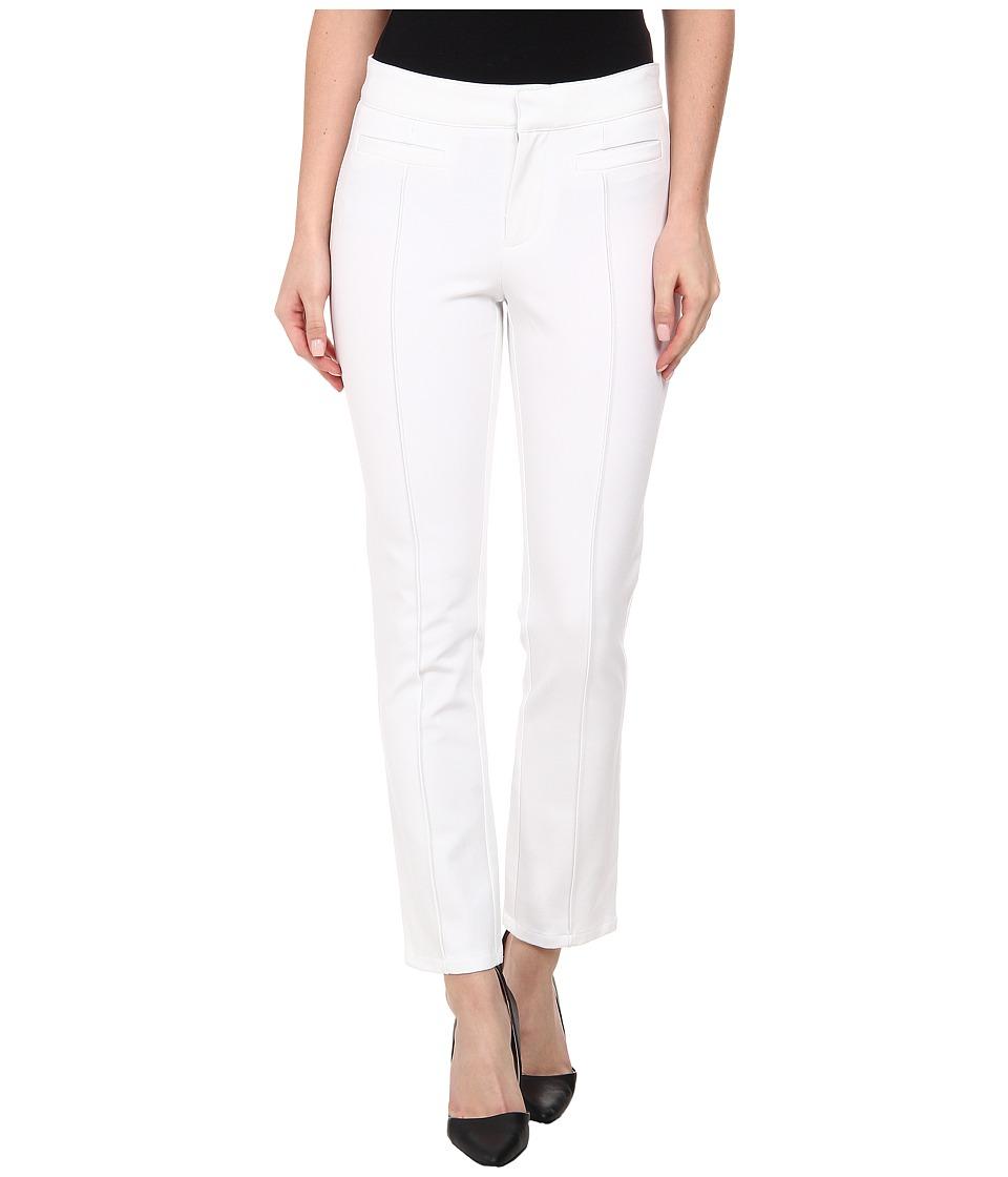 DKNYC - Bi-Stretch Skinny Ankle Pintuck Pants (White) Women's Casual Pants