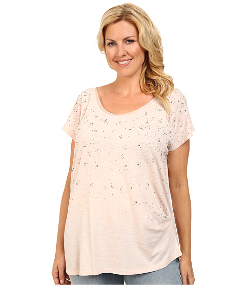 DKNY Jeans - Plus Size Embellished Tunic Top (Sugar) Women