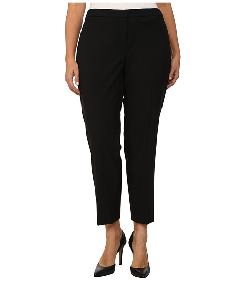 DKNYC - Plus Size Straight Ankle Ponte Back Pants (Black) Women's Casual Pants