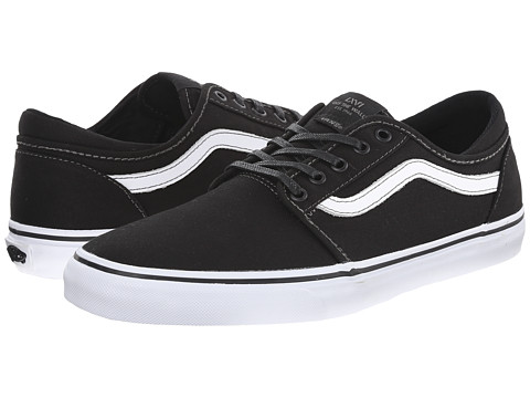 Vans - Trig ((Canvas) Black/White) Men's Shoes