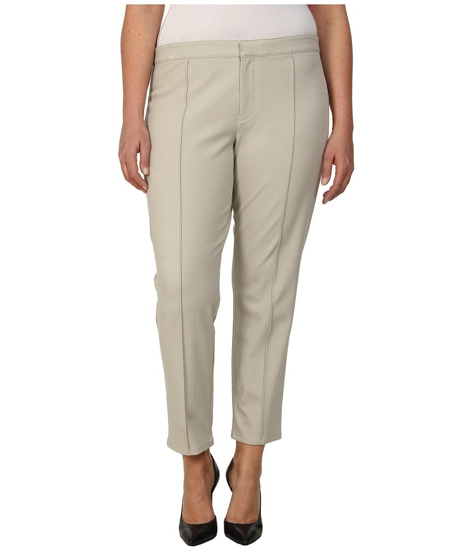 DKNYC - Plus Size Bi-Stretch Skinny Ankle Pintuck Pants (Overcast) Women's Casual Pants