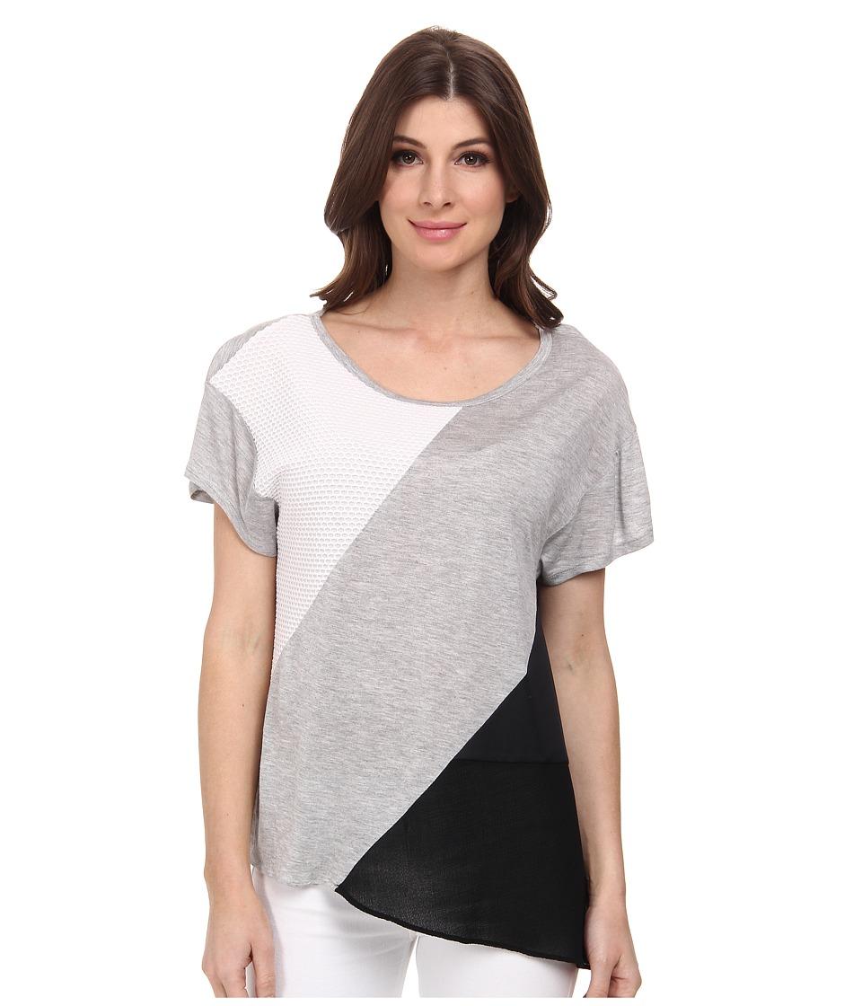 DKNYC - Pieced Tee (Spring Grey Heather) Women's T Shirt
