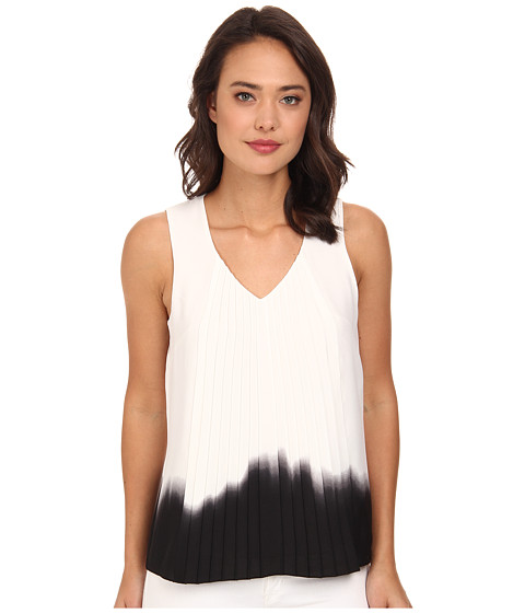 DKNYC - Vertical Pleat Front Blouse (Black) Women