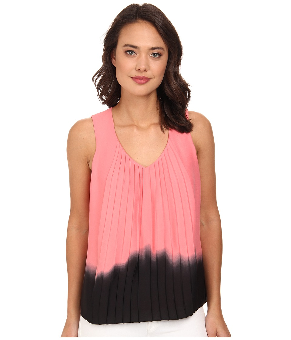 DKNYC - Vertical Pleat Front Blouse (Sorbet) Women's Blouse