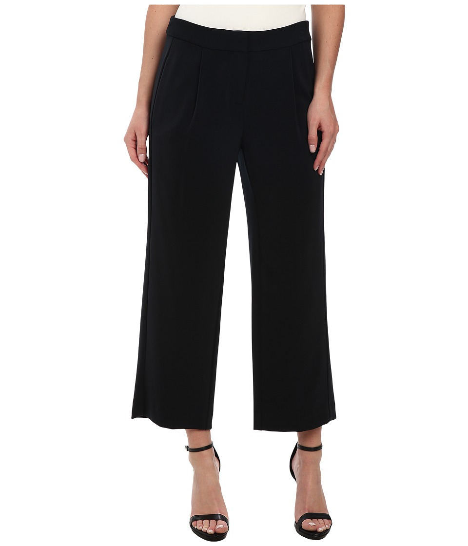 DKNYC - Straight Cropped Pants (Black) Women's Casual Pants