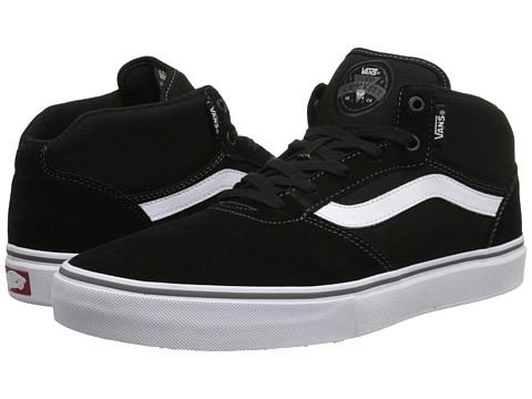 Vans - Gilbert Crockett Pro Mid (Black/White) Men's Skate Shoes