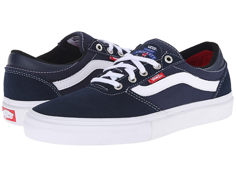 Vans - Gilbert Crockett Pro (Navy/White/Red) Men's Skate Shoes
