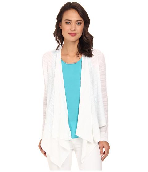 DKNYC - Refined Slub Drawcord Cozy Sweater (White) Women