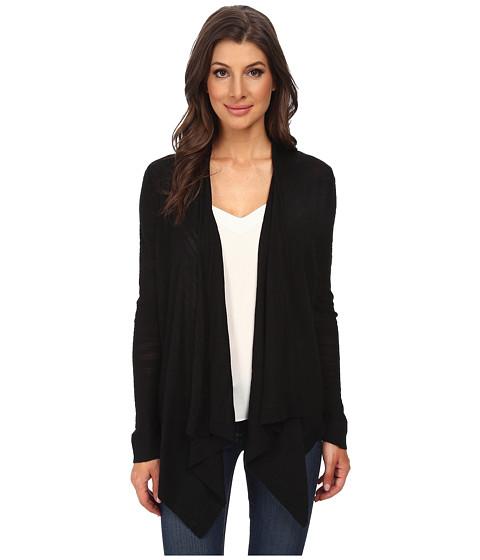 DKNYC - Refined Slub Drawcord Cozy Sweater (Black) Women