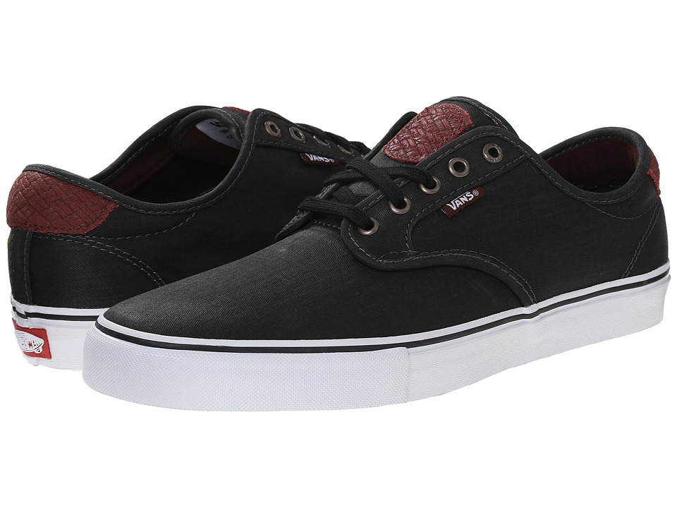Vans - Chima Pro ((Tooled Leather) Black) Men's Skate Shoes