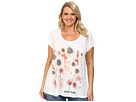 DKNY Jeans Plus Size Spring Garden Print Tee